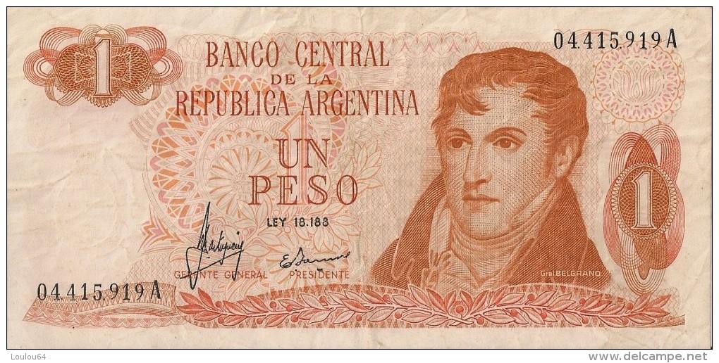 Billets - Argentine - 1 Peso - - Argentine