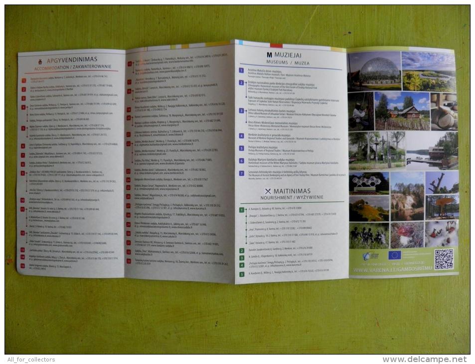 Varena Region Tourism Routes Map Lithuania, 3 Scans - Sonstige