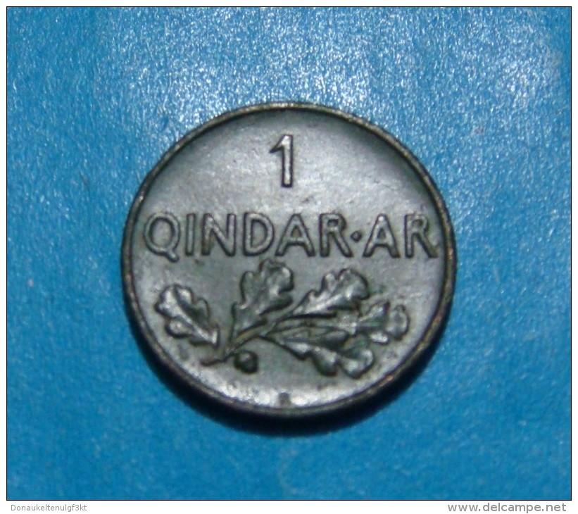 Albania 1 Qindar Ar 1935 Copper, High Quality - Albanie