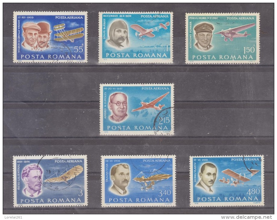 1978 - Les Pionnier De L Aviation Mi No 3563/3569 Et Yv P.A. 259/265 - 1948-.... Repúblicas