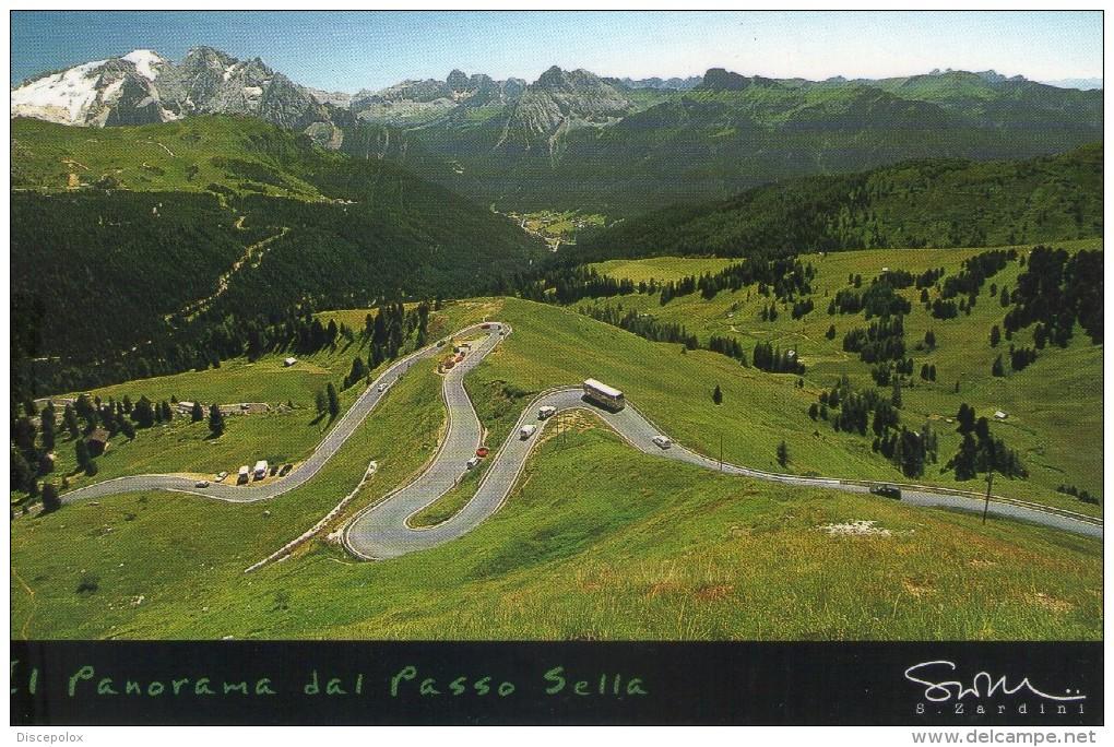 P3014 TIMBRO TURISTICO PASSO GARDENA, GRODNERJOCH - Cartoline Delle Dolomiti Con Bus Autobus - Moderna - Holidays & Tourism
