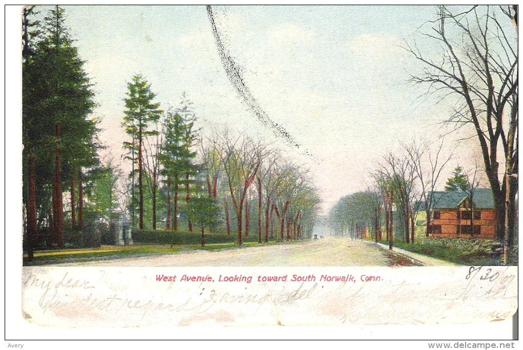 West Avenue, Looking Toward South    Norwalk,  Connecticut  Some Marks - Norwalk
