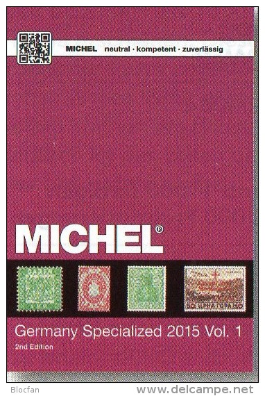 Germany Specialized Vol.I 2015 Neu 84€ Deutsche Reich Colonies Danzig Memel Stamps To 1945 Special Catalogue Old Germany - Engels