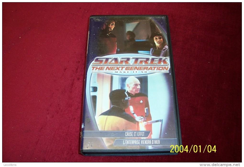 STAR TREK  °  THE NEXT GENERATION  ° CAUSE ET EFFET   L'ENTERPRISE VIENDRA D'HIER - Ciencia Ficción Y Fantasía