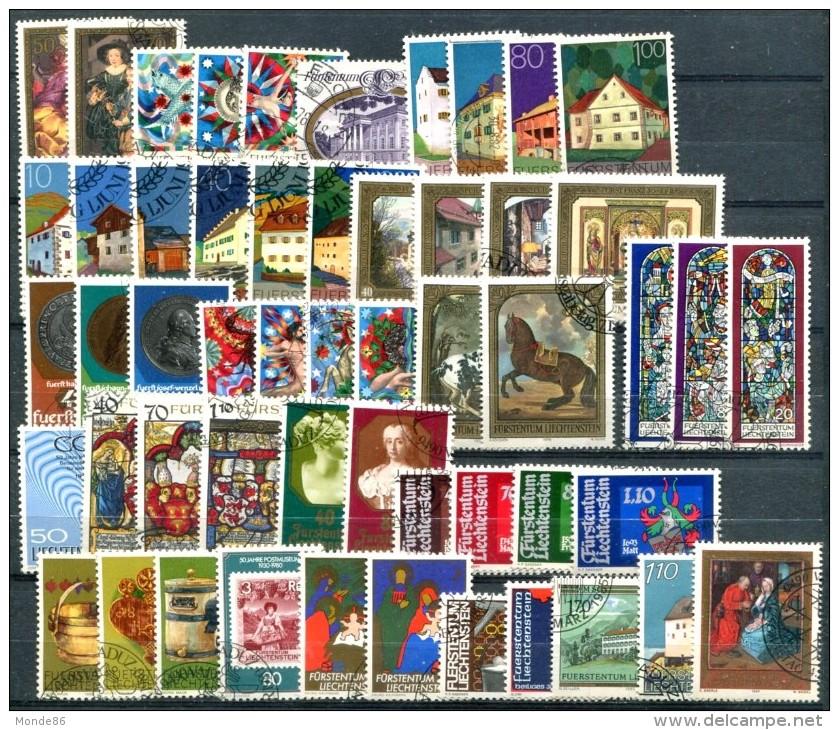 LIECHTENSTEIN - Petit Lot D'oblitérés Années 70 & 80 - TB - Collections