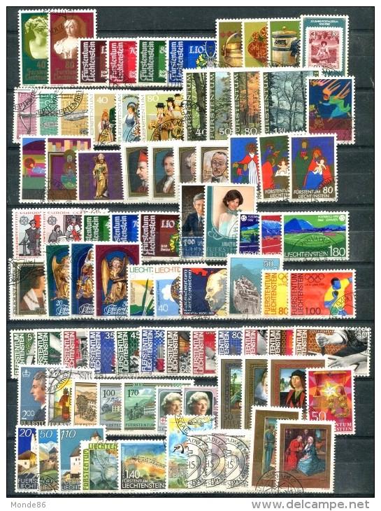 LIECHTENSTEIN - Petit Lot D´oblitérés Années 70 à 90 - TB - Collections