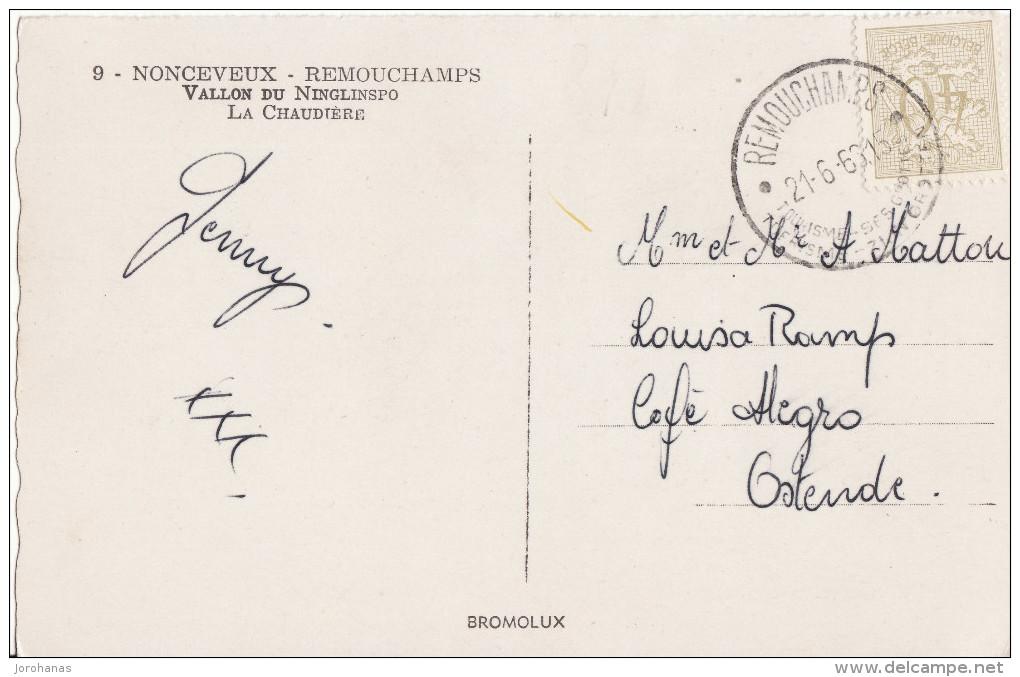 Remouchamps - Nonceveux N°9 - Vallon Du Ninglinspo La Chaudiére - 1963 - Aywaille