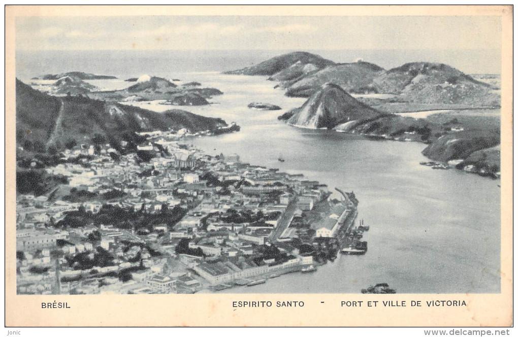 BRESIL - VITORIA - ESPIRITO SANTO - PORT ET VILLE DE VICTORIA - Vitória