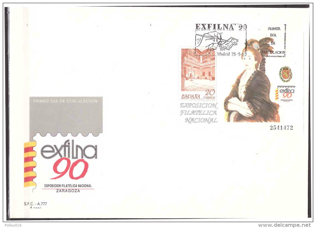 Espana / Spain 1990 FDC Stamp Exhibition Exfilna 90 S/S - 1931-Hoy: 2ª República - ... Juan Carlos I