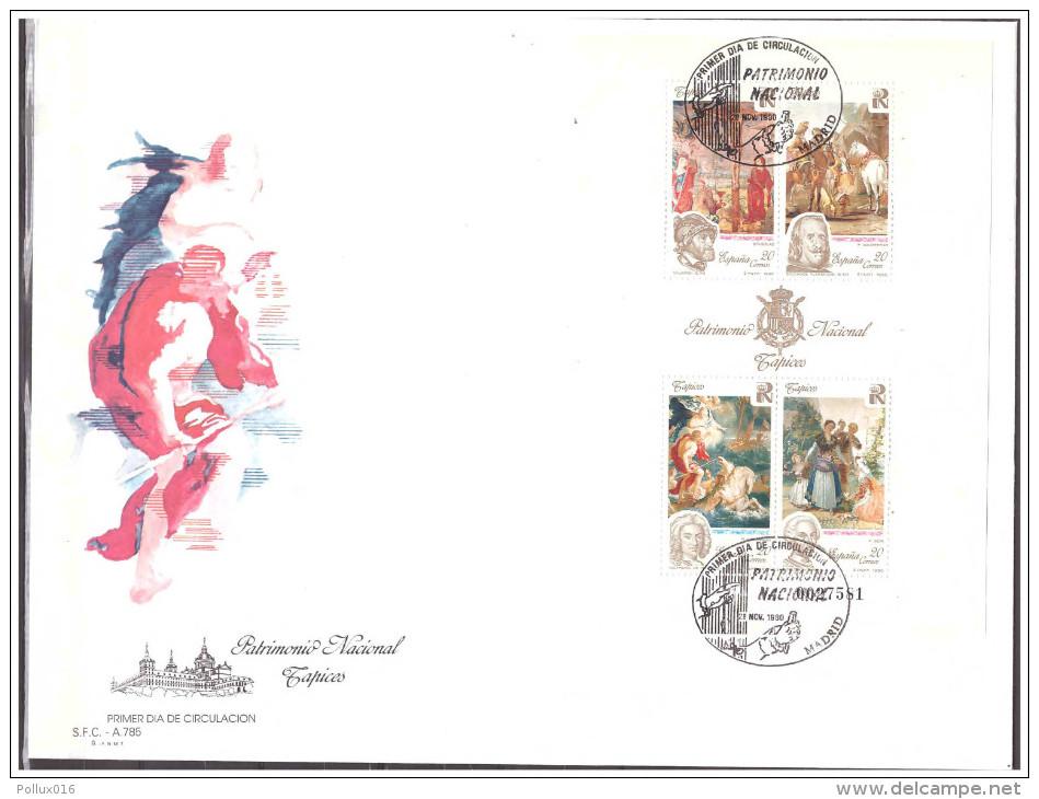 Espana / Spain 1990 FDC National Inheritance Paintings S/S - 1981-90 Cartas