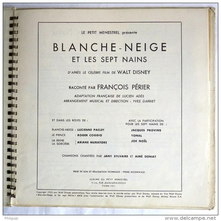 RARE Disque Vinyle 33T 25 Cm BLANCHE NEIGE ET LES SEPT NAINS - DISNEY PETIT MENESTREL ALB 9 1970 - Disques & CD