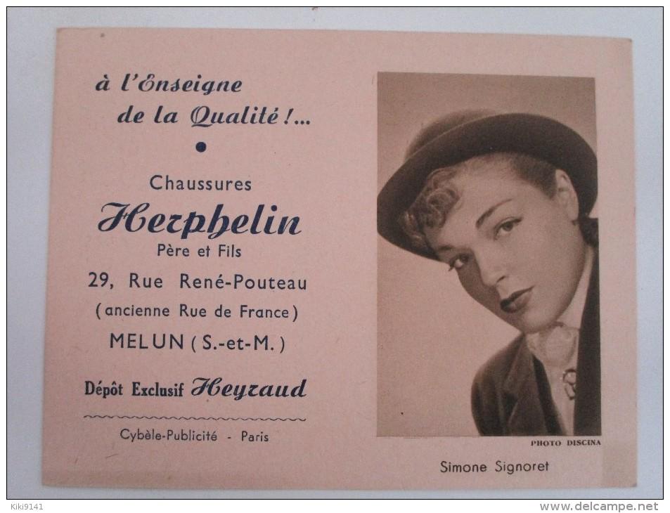 HERPHELIN Rue René-Pouteau   (Simone Signoret)  Calendrier De Poche - Calendriers
