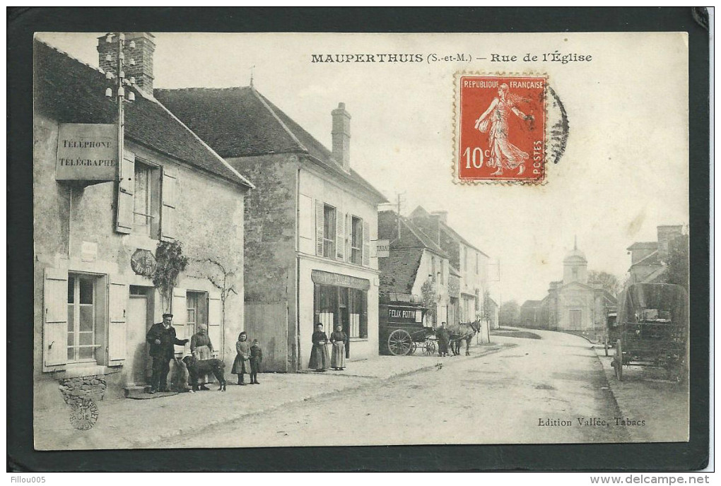 77. MAUPERTHUIS (SEINE-ET-MARNE). ANIMEE. ATTELAGE FELIX POTIN. TABAC..C1662 - France
