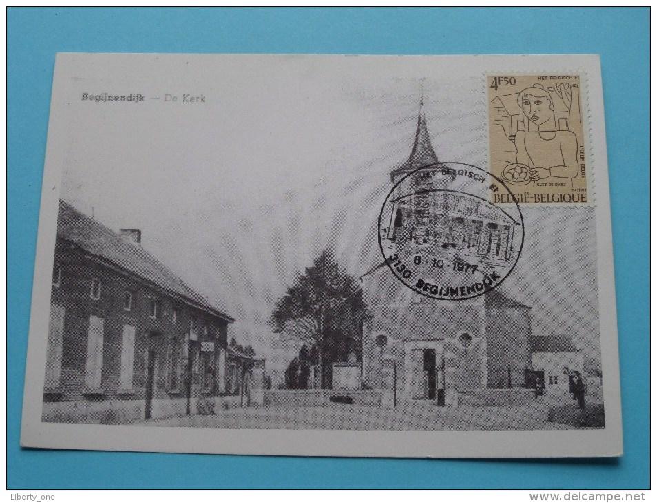 De Kerk BEGIJNENDIJK ( Oude St.-Luciakerk ) Afstempeling In 1977 ( Zie/voir Foto Voor Details ) Repro !! - Begijnendijk