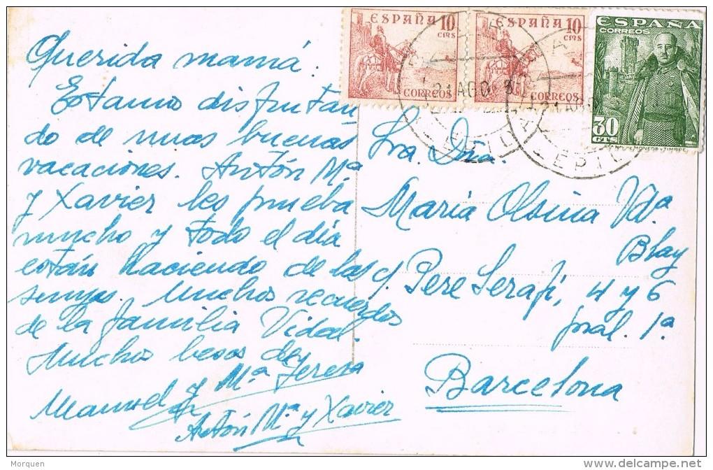 15719. Postal BARÓ (Lerida) 1955. Vista Dels Collegats En Pobla De Segur - 1931-Hoy: 2ª República - ... Juan Carlos I