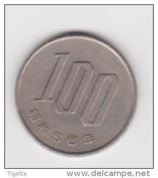 GIAPPONE   100 YEN  ANNO 1981 - Giappone