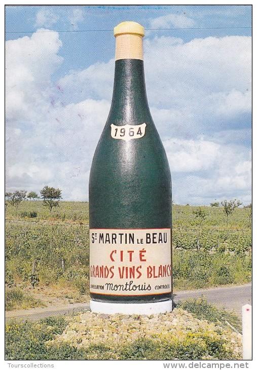 CPA 37 @ SAINT MARTIN LE BEAU @ Bouteille Emblème Appellation Montlouis Vin Blanc Alcool - Autres Communes