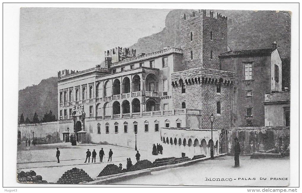 MONACO - PALAIS DU PRINCE AVEC PERSONNAGES - CPA NON VOYAGEE - Prince's Palace