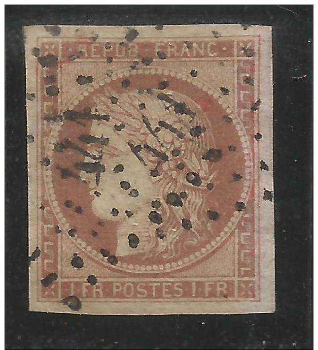 N°6 Obl Carmin Brun PC 441 Bien Margé - 1849-1850 Cérès
