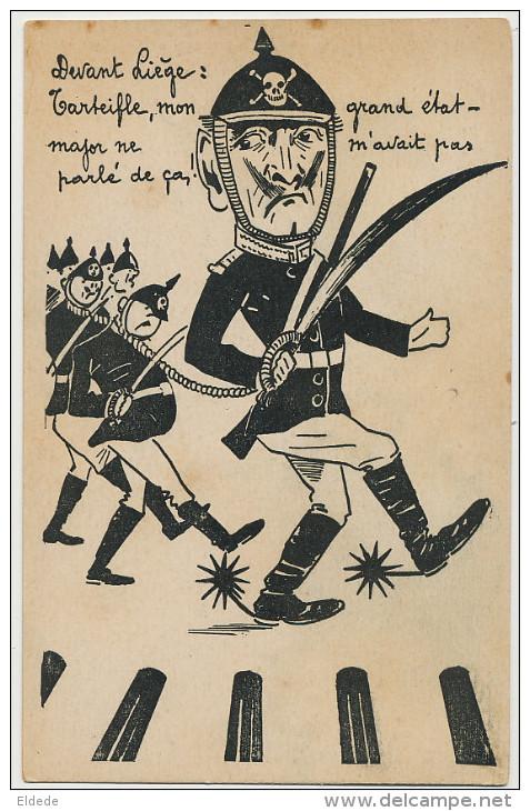 WWI Guerre 1914 Devant Liege Kaiser Guillaume Tete De Mort Tarteiffe Edit A.V. Et M.F. 34 Rue Des Bouchers - Liege