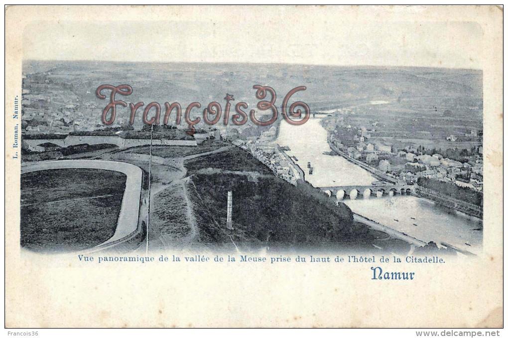 Namur - Vue Panoramique De La Vallée De La Meuse - 2 SCANS - Namur