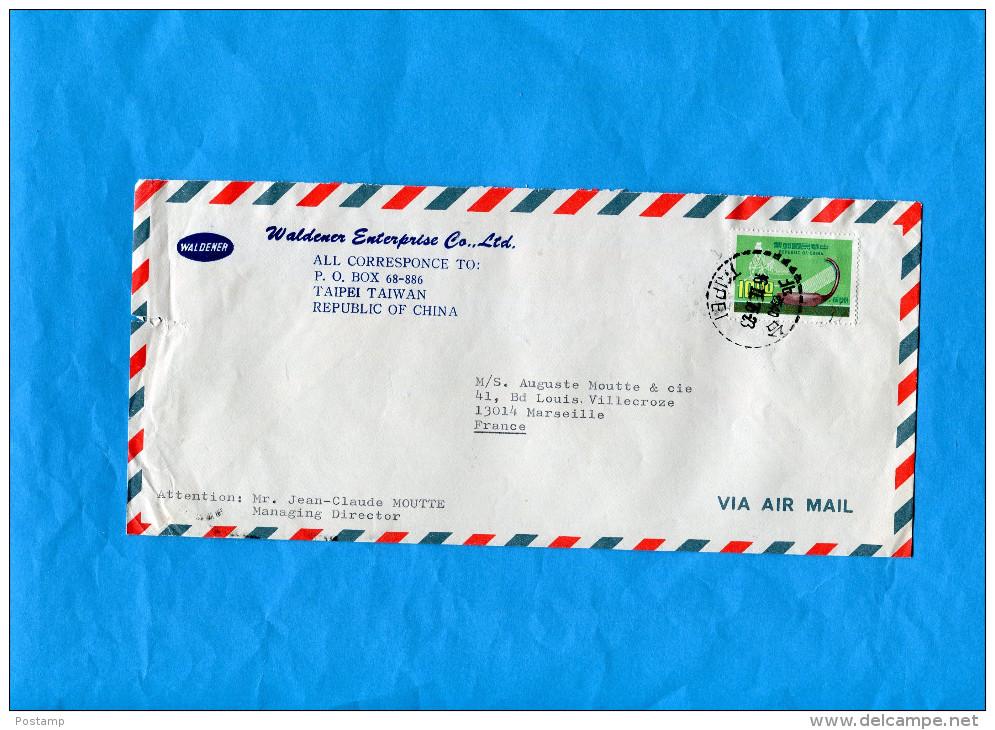 MARCOPHILIE-lettre Commerciale -républic Of China*-pour Françe- Cad Taipei  Stamp N° 1071  -PO - 1945-... République De Chine