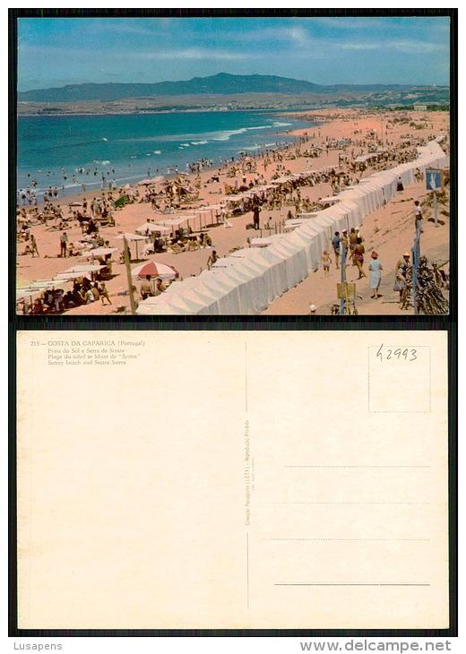 PORTUGAL COR 42993 - COSTA DA CAPARICA - PRAIA DE BANHOS E SERRA DE SINTRA - Setúbal