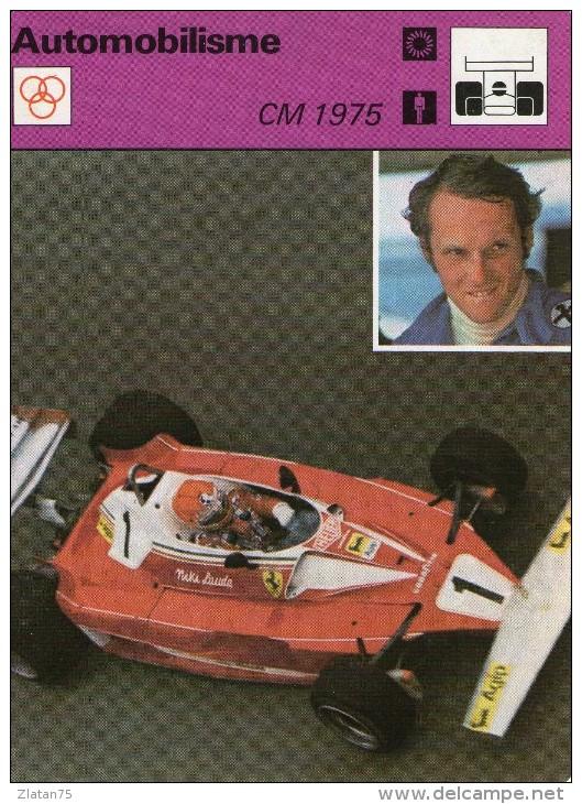 SPORTS @@ AUTOMOBILE -F1  @@ NIKI LAUDA  **  COUPE DU MONDE 1975 - Automobile - F1
