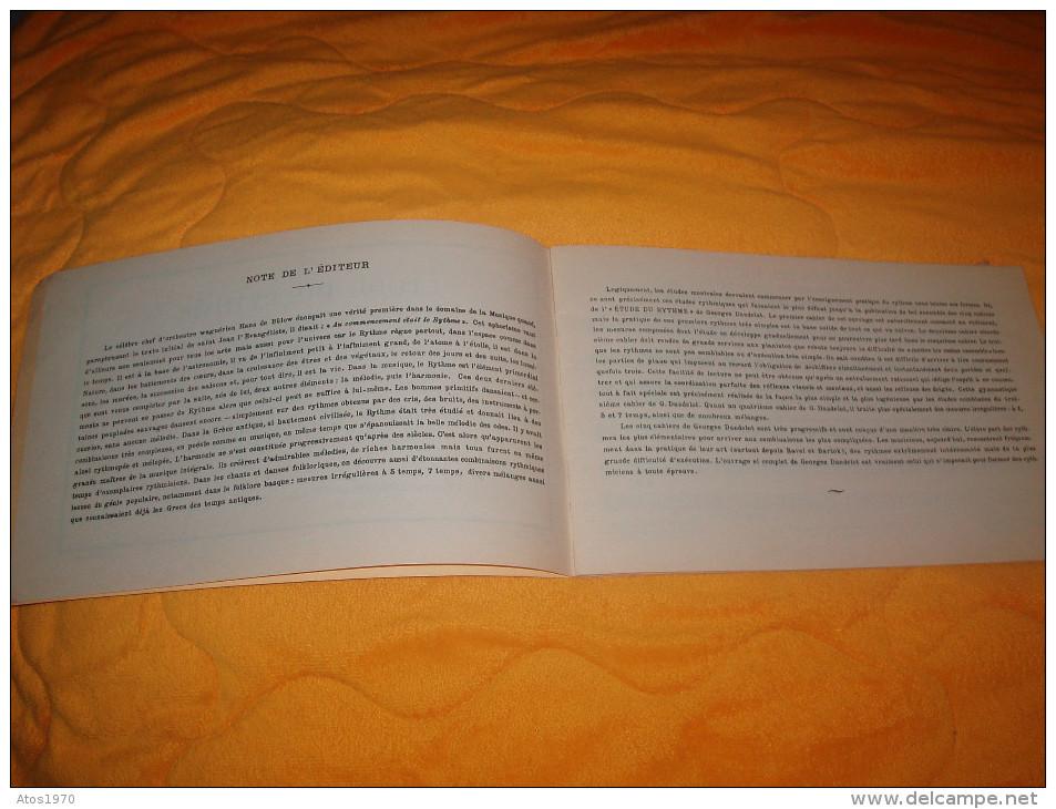 PARTITION DATE ?. ETUDE DU RYTHME. / 2E CAHIER : MESURES COMPOSEES. PAR GEORGES DANDELOT PROFESSEUR A L'ECOLE...32 PA - Partituren