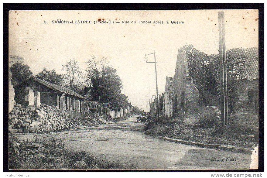 62 SAUCHY LESTREE - Rue Du Tréfont Après La Guerre - Autres Communes