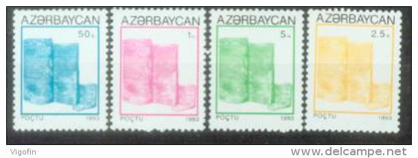 AZ 1993-87-90 DEFINITIVE, ASERBEDIAN, 4v, MNH - Azerbeidzjan