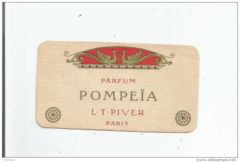 POMPEIA DE L T PIVER PARIS CARTE PARFUMEE ANCIENNE - Perfume Cards
