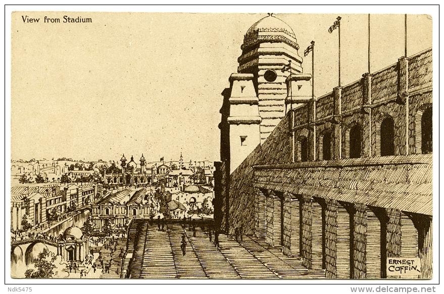 BRITISH EMPIRE EXHIBITION 1924 : WEMBLEY STADIUM (ARTIST - ERNEST COFFIN) - Exhibitions