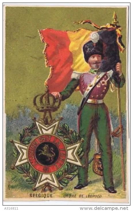 Cromo  BELGIQUE ORDRE DE LEOPOLO - Trade Cards