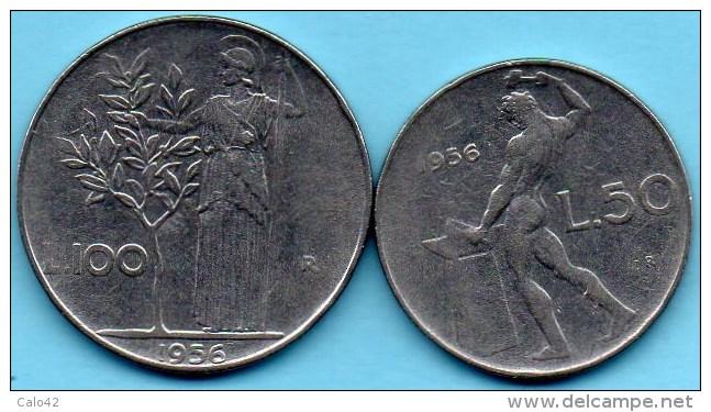 =(r65)  ITALIE /  ITALY  50 + 100 LIRE  1956 - 1946-… : Republic