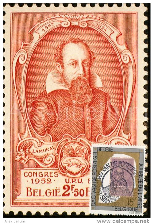 Maximumkaart België / Postzegel Koning Leopold II / 1993 / Graaf Lamoral I De Tassis, Grootmeester Der Posterijen - 1991-2000