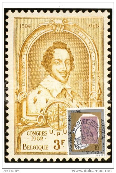 Maximumkaart België / Postzegel Koning Leopold II / 1993 / Graaf Leonard II De Tassis, Grootmeester Der Posterijen - 1991-2000