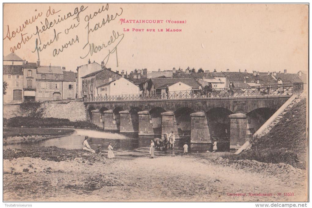 MATTAINCOURT    ( 88 )  Le Pont Sur Le Madon    ( Port Gratuit ) - France