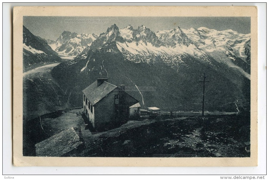 Chamonix - La Chaîne Du Mont-Blanc Vue De La Flégère - écrite Et Timbrée 2 Scans - Chamonix-Mont-Blanc