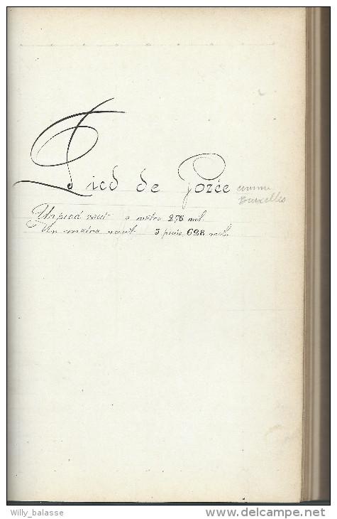 Tarif Métrique De Toutes Les Villes Et Villages , Brabant Bruxelles Gozée Namur ... Plusieurs Cent De Pages Manuscrites - Livres, BD, Revues