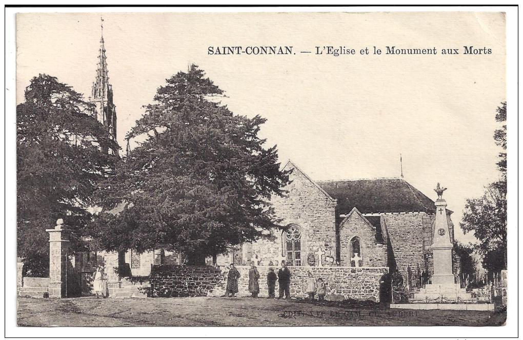 CPA 22 Saint Conan L'eglise Et Le Monument Aux Morts - Autres Communes