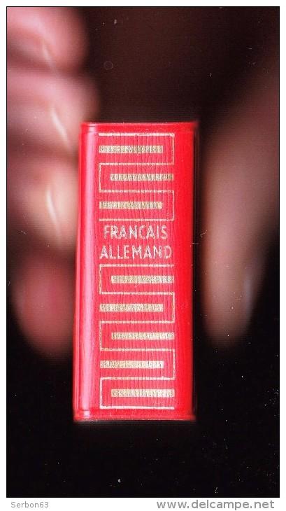 1 LE PLUS PETIT DICTIONNAIRE DU MONDE ? LILLIPUT FRANCAIS ALLEMAND LAROUSSE 3,5X5X2cm 640 PAGES ANNEE 1961 ETAT NEUF - Dictionnaires