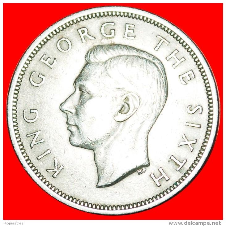 + SHIPS: NEW ZEALAND ★ 1/2 CROWN 1951! LOW START! ★ NO RESERVE! George VI (1937-1952) - Nouvelle-Zélande