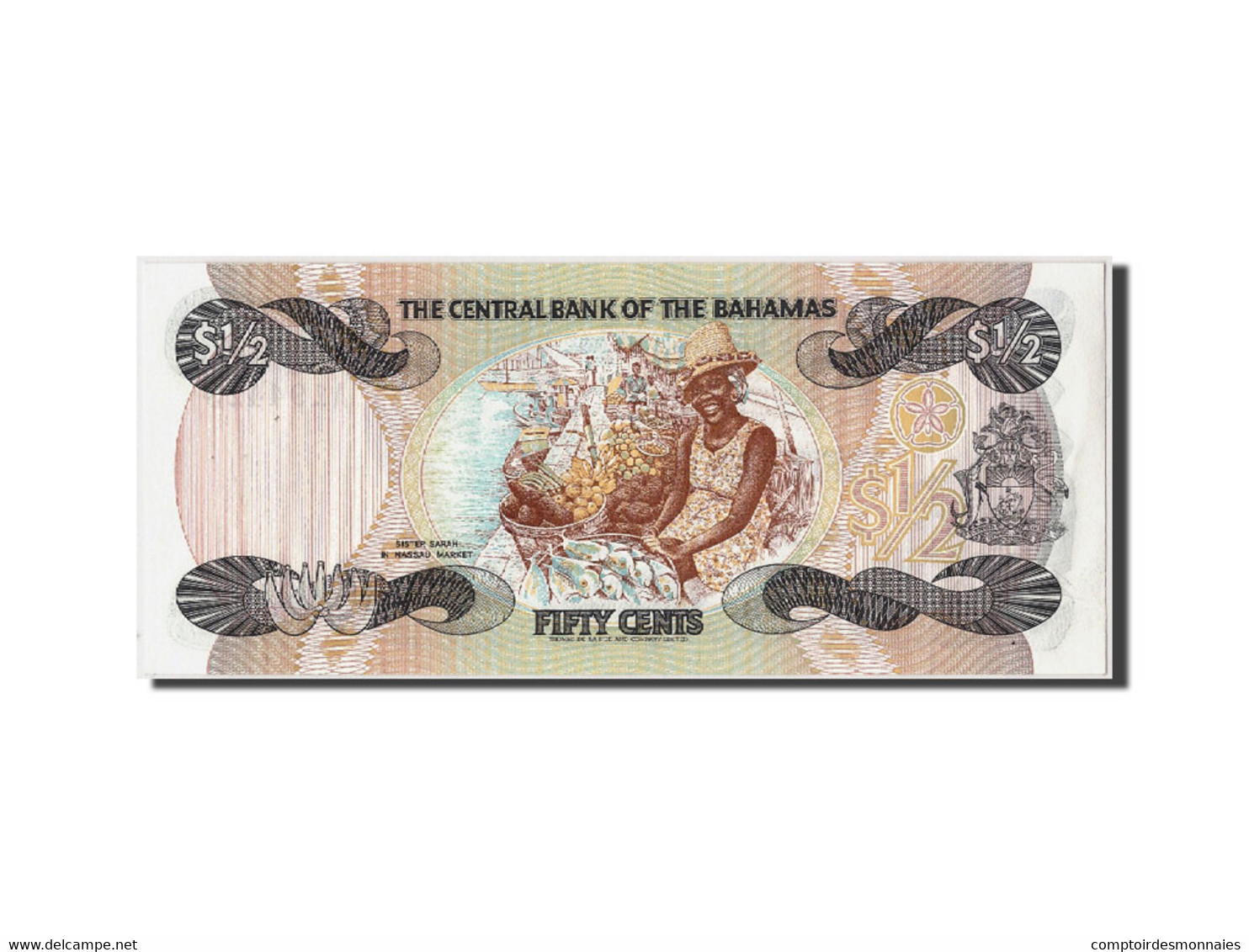 Bahamas, 1/2 Dollar, L.1974 (1984), KM:42a, Non Daté, NEUF - Bahamas