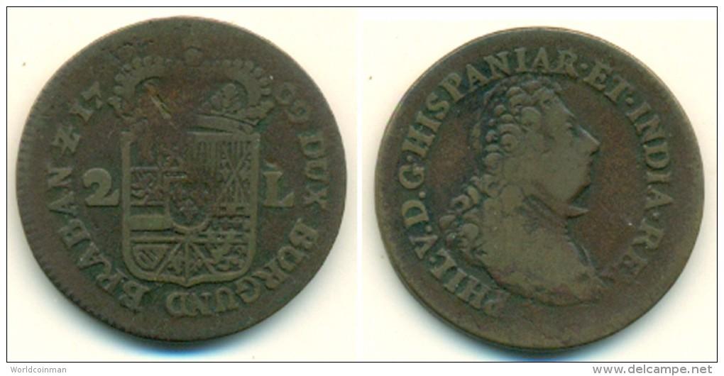 1709 Namen Philips V Dubbele Oord Coin - Belgium