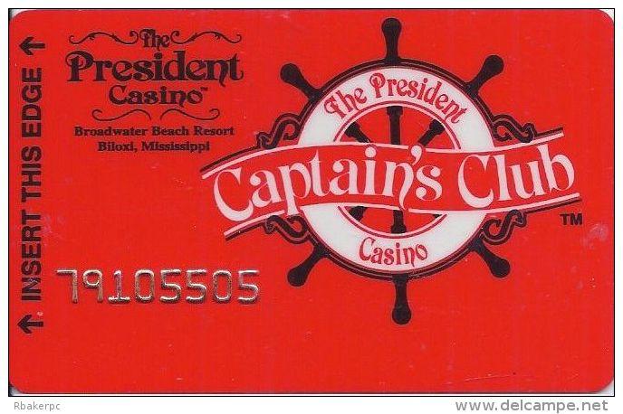 President Casino Biloxi MS - 3rd Issue Slot Card - Casino Cards