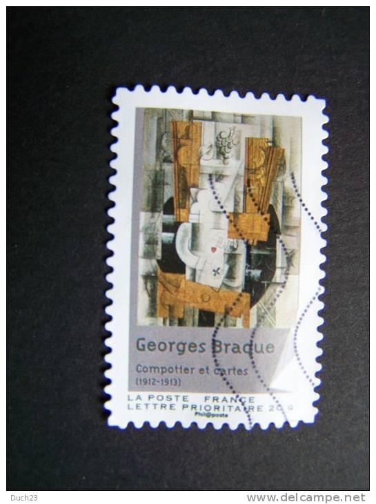 FRANCE OBLITERE 2012 N° 707 GEORGES BRAQUE SERIE DU CARNET CUBISME AUTOCOLLANT ADHESIF - France