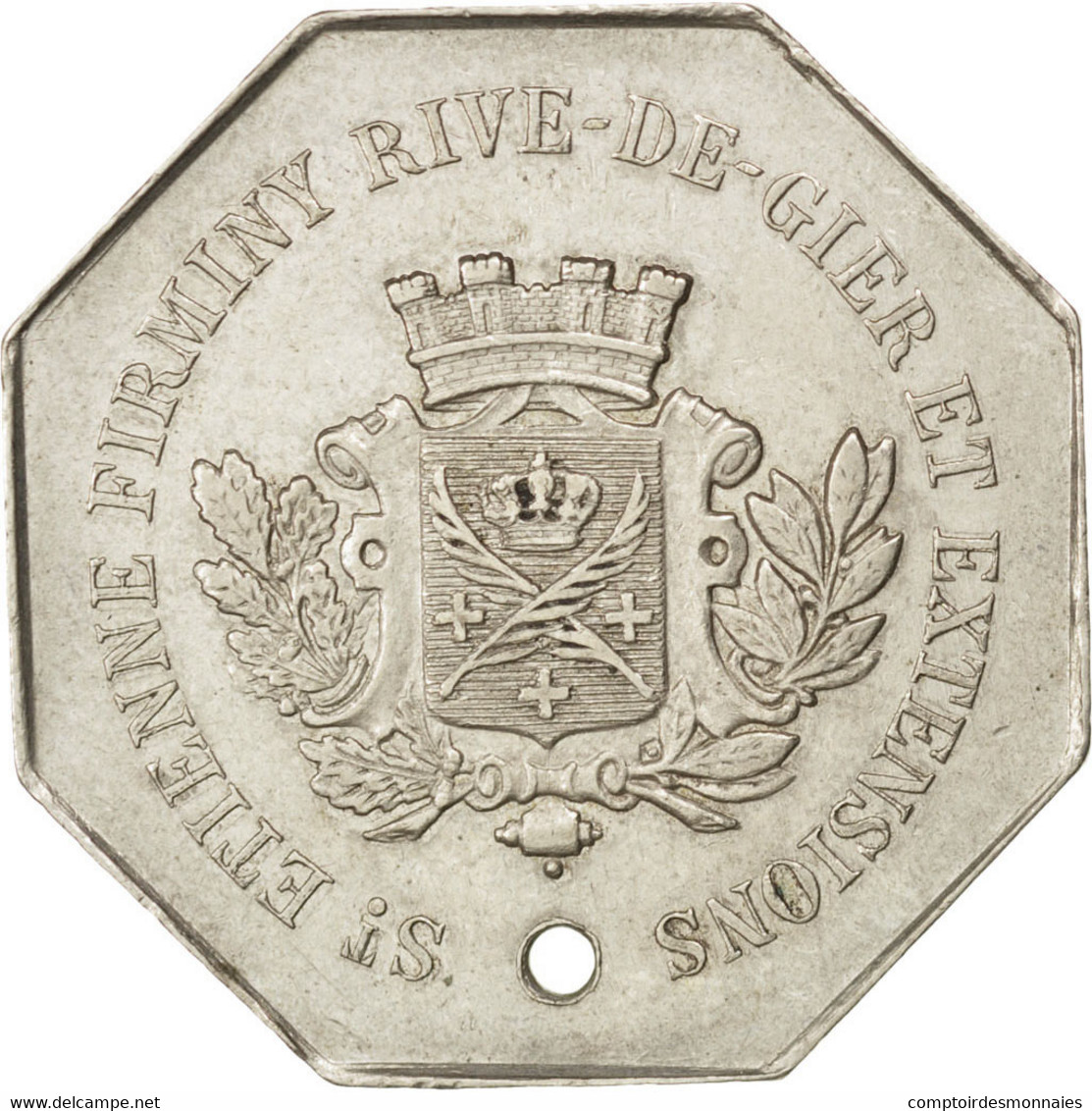 Saint-Etienne, Tramways à Vapeur, 10 Centimes, Elie T35.1c - Monétaires / De Nécessité