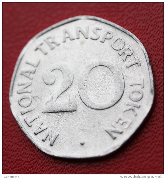 "Token Jeton Aluminium "" 20 National Transport Token / Class 508 Train"" Chemin De Fer - Professionnels/De Société"