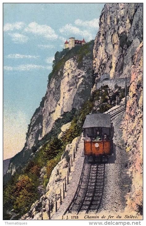 Thématiques 74 Haute Savoie Chemin De Fer Du Salève Train - France